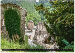 Fotokalender als Geschenk oder als Werbekalender. Thema Reise. Olymp, Griechenland
