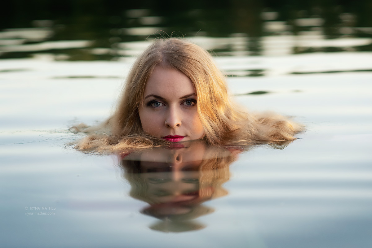 Wasser Portrait. Outdoor photography