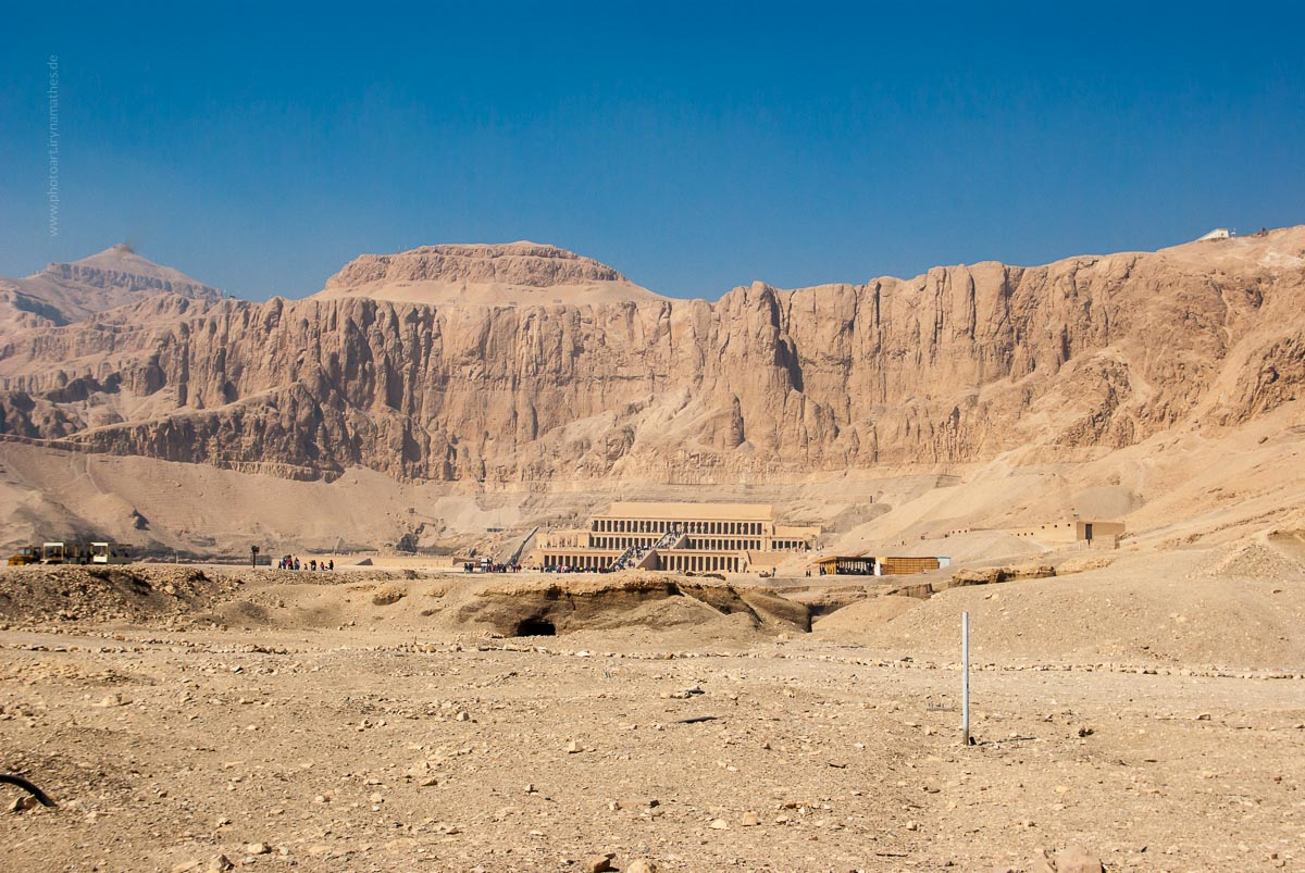 Egypt 2020, Hatshepsut Tempel. Travel photography