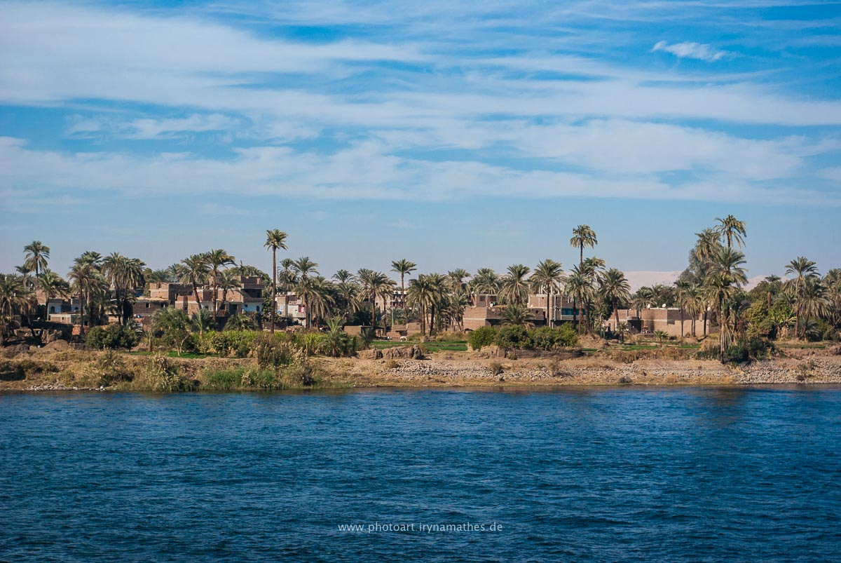 Egypt 2020, Nil Landscape. Travel photography