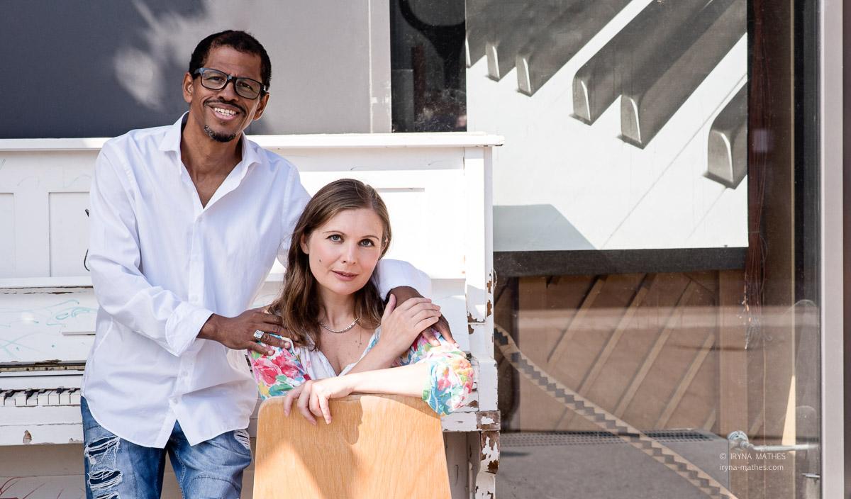 Duo Alma Gemela, Karlsruhe. Musiker Natalia Volkova und Alfredo Ramirez
