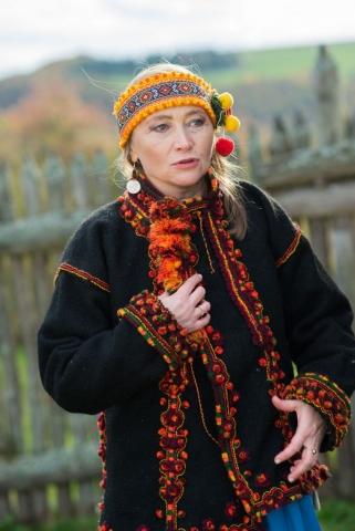 Ethno - Fotosession mit der Sängerin und Autorin Olena Serpen