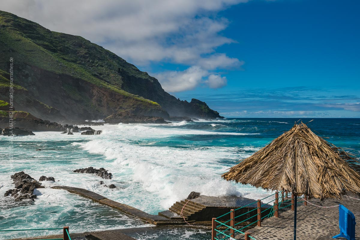 La Fajana - Naturschwimmbecken an rauher Küste