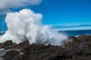 La Palma, Kanarische Insel. Küsten Landschaft