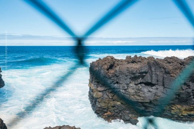 Ozean hinter dem Zaun. La Palma