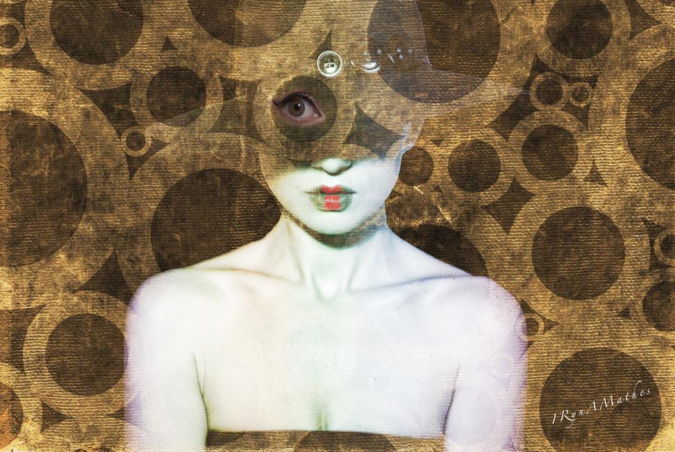 Art works, Surrealismus.  Portrait. Iryna Mathes