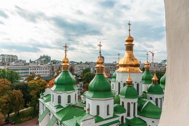 Ukraine, Kyiv, Sofia Kathedrale. 2011. Archivfoto. Reisefotografie